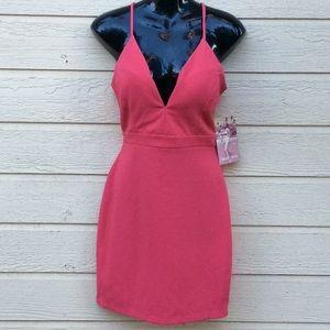 Emerald Sundae Bright Coral Pink BodyCon Mini 🎉
